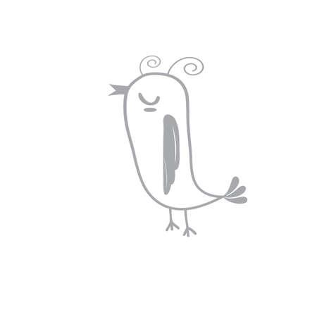 鳥のイラスト。