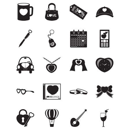 set of heart icons Ilustrace