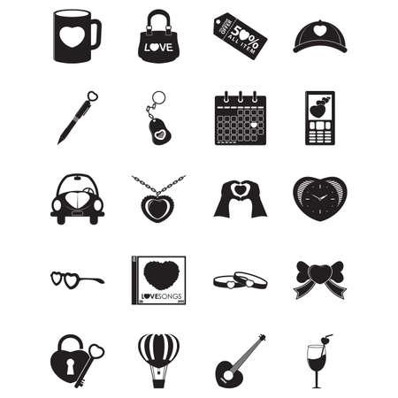 set of heart icons Stok Fotoğraf - 81487144