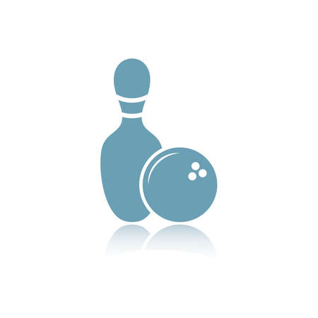 bowlingbal en pin Stock Illustratie