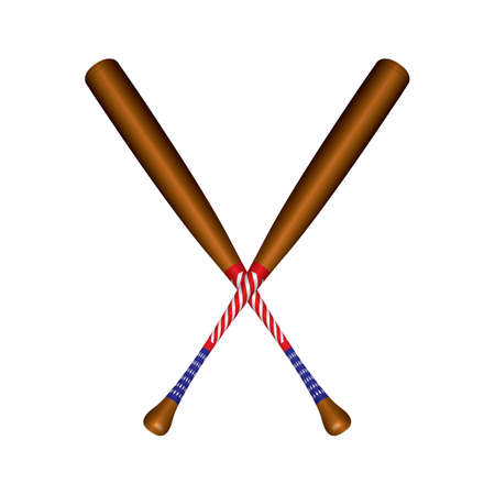 Crossed baseball bats