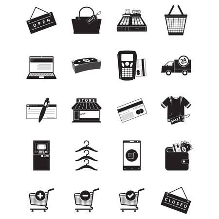 Icone di shopping Archivio Fotografico - 81487145