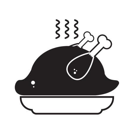 roasted chicken Иллюстрация