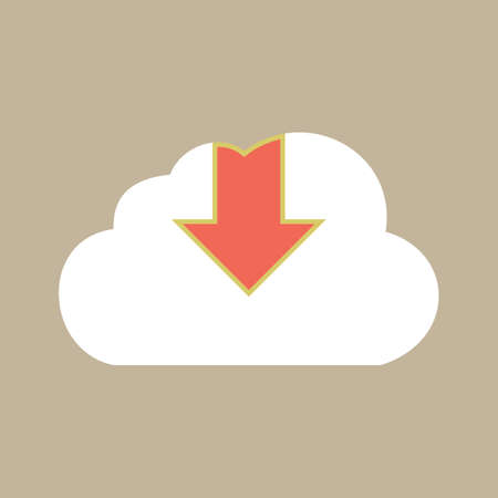 download sign with cloud icon