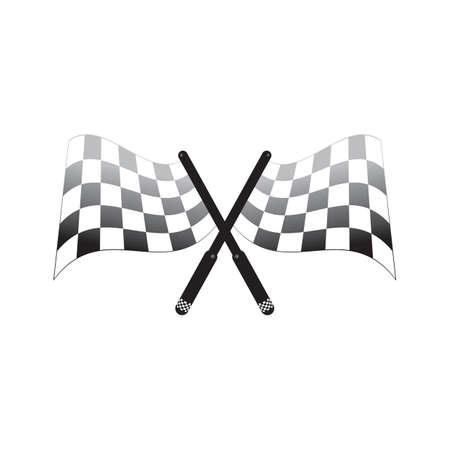 교차 체크 무늬 깃발