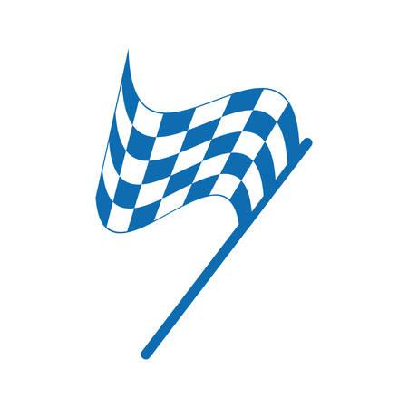 Checkered flag Illusztráció