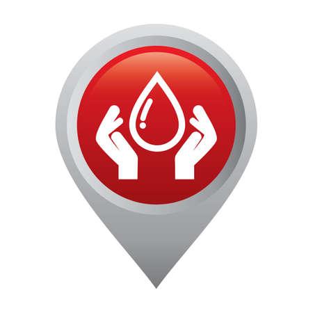 handen en een druppel bloed