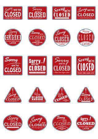 sorry, we zijn gesloten labels-collectie