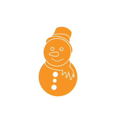 A snowman illustration.