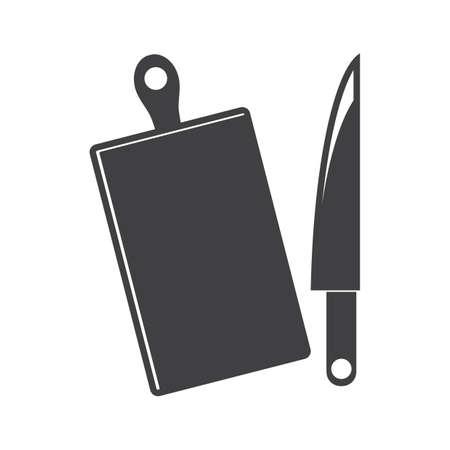ナイフ、チョッピング ボード  イラスト・ベクター素材