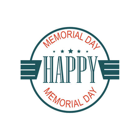 Memorial day label Illustration