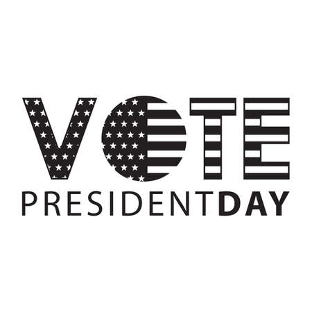 A simple president day vote text. Illustration