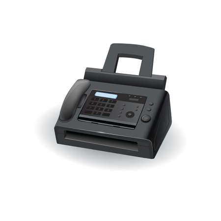 Printer and fax machine 向量圖像
