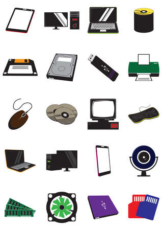 set of electric gadgets