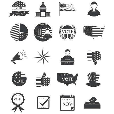 미국 선거 컬렉션 일러스트