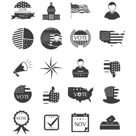 USA election collection Ilustracja
