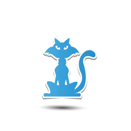 A cat icon illustration. Stock Vector - 81420377