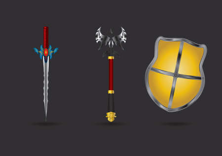 Set of fantasy weapons