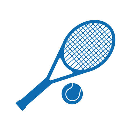 Tennis racket and ball Ilustracja