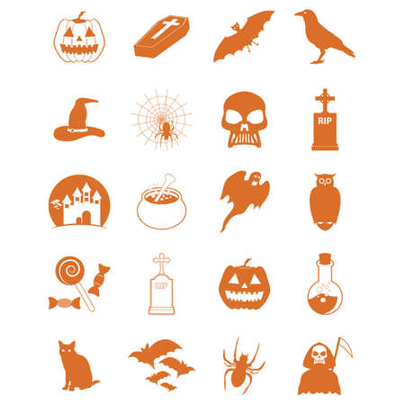 set of halloween icons Archivio Fotografico - 106672057