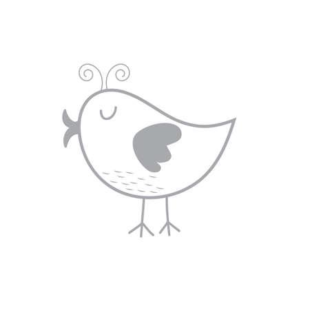 簡単な鳥のイラスト。