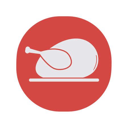 roast turkey Ilustrace