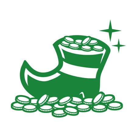leprechaun boots with coins