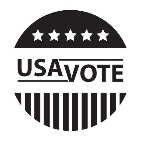 A simple USA vote button. Reklamní fotografie - 81486091