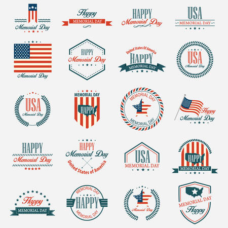 Memorial day labels Иллюстрация