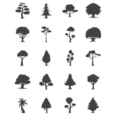 set of trees Ilustrace