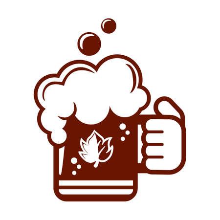 hand holding a mug of beer Illustration