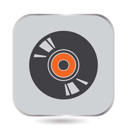 シンプルなディスクイラスト。  イラスト・ベクター素材