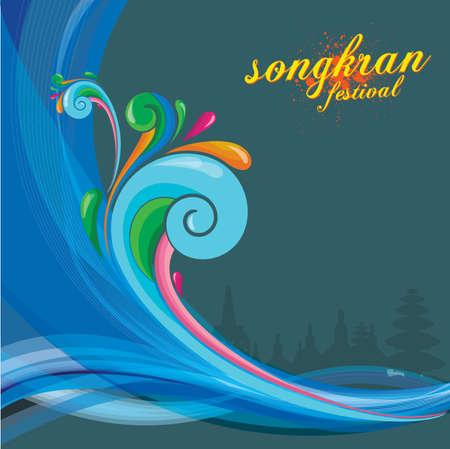 songkran festival background
