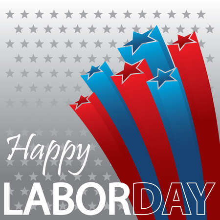 A happy labor day wallpaper. 向量圖像