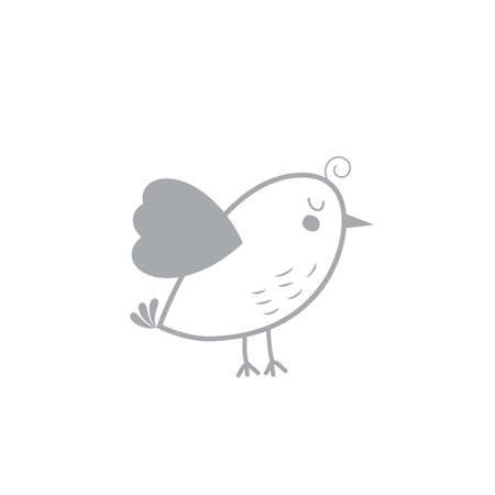 chick: A simple bird illustration.