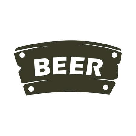 wooden beer sign