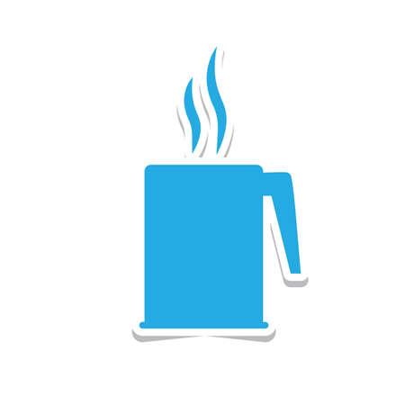 hot beverage sticker Ilustração