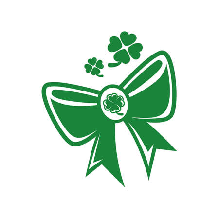 st.patrick's day bow 矢量图像