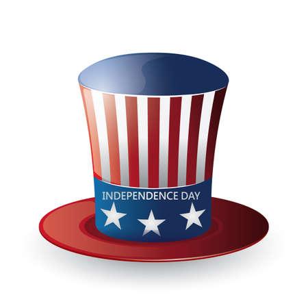 american independence day hat Illusztráció