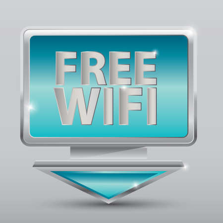 free wi-fi sign Stock Vector - 81538620