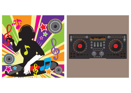 Dj player and turntable