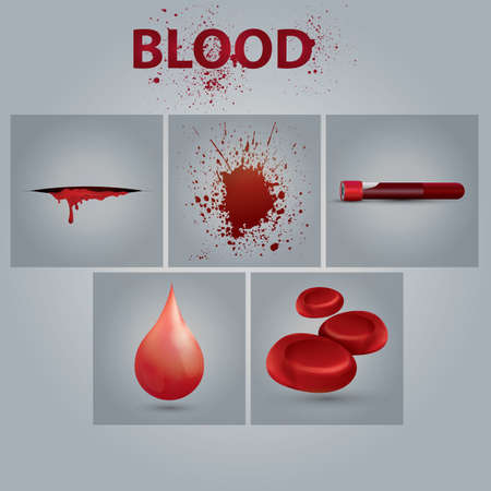 blood icon set