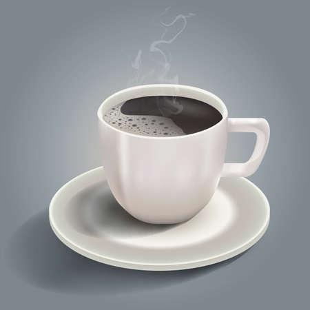 熱い一杯のコーヒー