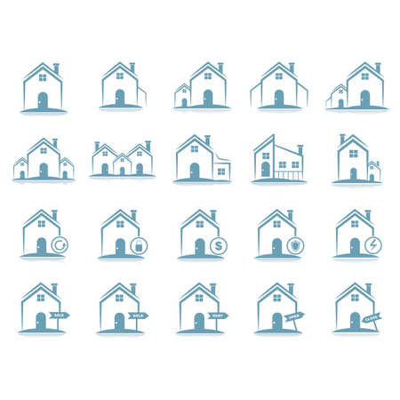 set of house icons