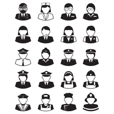 Icônes d'occupation de personnes Banque d'images - 81487148