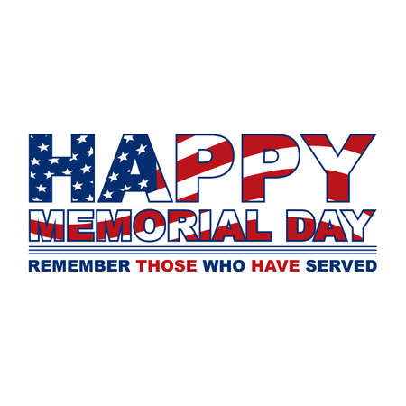 memorial day label 일러스트