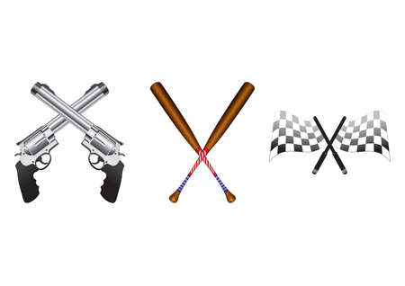 Set of crossed icons Illusztráció