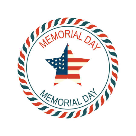 memorial day label Illustration