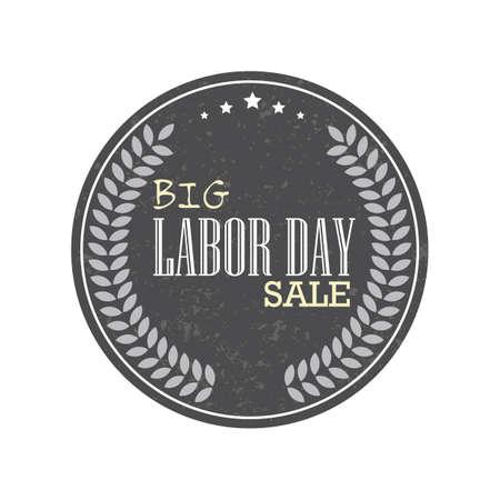 Labor day sale label Vector Illustration