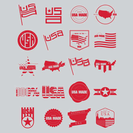 Made in usa label Stock Vector - 81537852